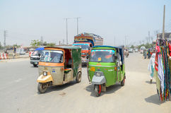 Rikshaws as Public transport in Lahore, Punjab, Pakistan royalty free stock photos
