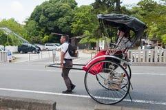 Riksja, Japans vervoer Stock Afbeelding