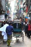 Riksjah driver. In the streets of  old Dhaka Bangladesh Royalty Free Stock Image