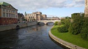 Riksplan bridge and the Royal Swedish Opera Royalty Free Stock Image