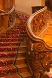 rikt trappaträ för slott arkivfoto