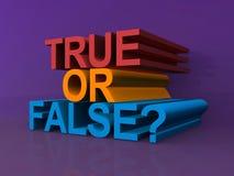 Riktigt eller falskt? royaltyfri illustrationer