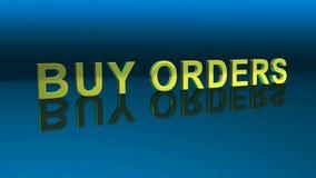Riktning av försäljnings- och köpriktningen Köp beställningar Försäljningsbeställning Royaltyfri Foto