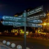 Riktning för gatatecken i Yogyakarta arkivfoto