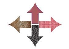 riktningar vektor illustrationer