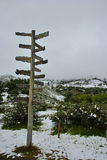 Riktningar för snön Fotografering för Bildbyråer