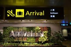 Riktnings underteckna in den Singapore Changi flygplatsen Royaltyfri Foto