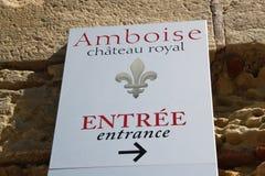 Riktningssignaler att rockera Amboise Royaltyfria Bilder