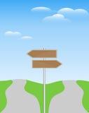 riktningssignpost två Arkivfoto