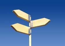 riktningstecken Fotografering för Bildbyråer