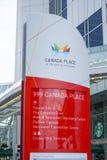 Riktningstecken på det Kanada stället i Vancouver - VANCOUVER - KANADA - APRIL 12, 2017 Royaltyfria Bilder