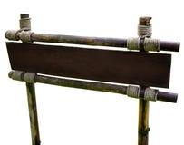Riktningstecken på en wood stolpe med kopieringsutrymme för ditt eget meddelande Royaltyfri Bild