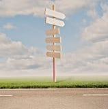 Riktningsvägmärken Fotografering för Bildbyråer