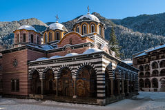 Rila修道院在保加利亚 免版税库存照片