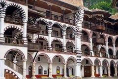 Rila修道院,一个著名修道院 免版税图库摄影