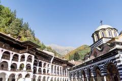 Rila山的里拉修道院 免版税库存照片