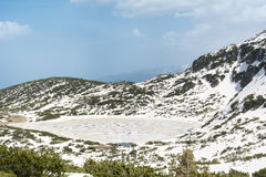 Rila山的,保加利亚湖 库存照片