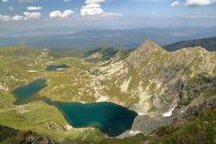 RILA山,保加利亚:七个湖 库存照片