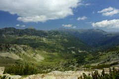 Rila 06.2. A beautiful landscape from East Rila mountain in Bulgaria Stock Photography