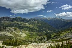 Rila 06.3. A beautiful landscape from East Rila mountain in Bulgaria Royalty Free Stock Photography