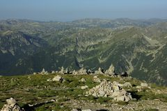 Rila. A beautiful high mountain landscape from west Rila mountain in Bulgaria Stock Images