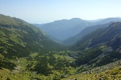 Rila. A beautiful high mountain landscape from Rila mountain in Bulgaria Royalty Free Stock Image