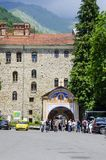 Rila Monastery Entrance. RILA, BULGARIA - JUN 29, 2014: Famous and historic Rila Monastery Entrance Royalty Free Stock Photography