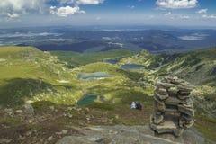 Rila jeziora, Bułgaria Obrazy Royalty Free