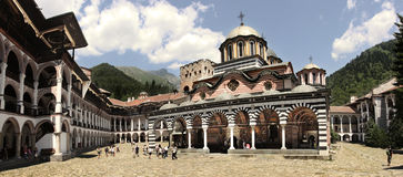 Rila kloster Royaltyfria Bilder