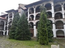 Rila Kloster Bulgarien lizenzfreie stockfotos