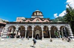 Rila kloster, huvudsaklig kyrklig byggnad under berömmen av 15th Augusti Arkivfoton
