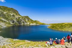 Rila lakes in Rila mountain - Bulgaria royalty free stock image