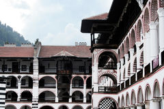 Rila Monastery. The Monastery of Saint Ivan of Rila,is the largest and most famous Eastern Orthodox monastery in Bulgaria. Originally build during the 14th Stock Photo