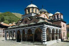 Rila monastery. A famous monastery in Bulgaria Royalty Free Stock Photos