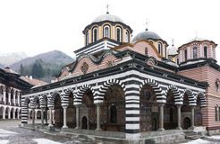 Rila Monastery in Bulgaria Stock Images