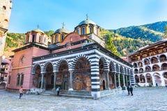 Rila Monastery, Bulgaria and autumn mountains Stock Photo