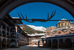 The Rila Monastery in Bulgaria Stock Photography