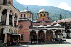 Rila Monastery church in Bulgaria fortifications Stock Photography