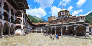 Rila Monastery Courtyard royalty free stock photos