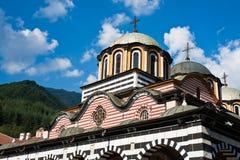 Rila Monastery Detail. Rooftops of the Rila Monastery in Bulgaria Stock Photo
