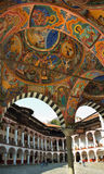 Rila monastery, mural paintings Stock Photography
