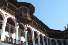 Rila monastery renovation Stock Images