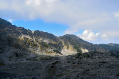 Rila mountain cloudy. Rila mountain landscape with blue sky and clouds Royalty Free Stock Photos