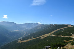 Rila mountain. Landscape with blue sky and clouds Stock Photo