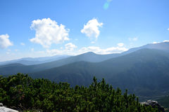Rila mountain. Landscape with clear blue sky Stock Photos