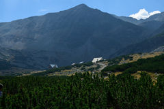 Rila mountain. Landscape with clear blue sky Royalty Free Stock Photography