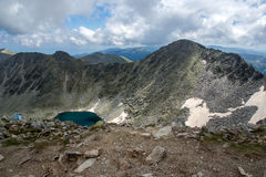 Rila Mountain, Ledenoto (Ice) lake and Musala Peak Stock Images