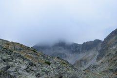 Rila mountain tops. Rila mountain landscape with cloudy sky Royalty Free Stock Image