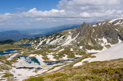 Rila mountains stock photo