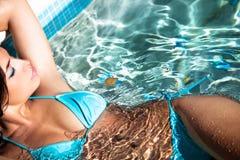 Rilassamento in acqua Immagine Stock Libera da Diritti
